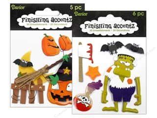 Darice Sticker 3D Finishing Accentz Astd Broom (6 set)
