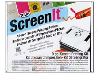 Fabric Painting & Dying Crafting Kits: Tulip ScreenIt Silk Screen Machine