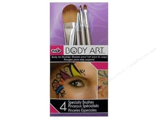 Tulip Body Art Brushes Specialty 4pc