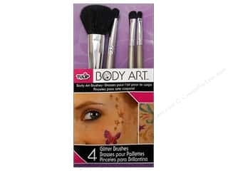 Leisure Arts $4 - $8: Tulip Body Art Brushes Glitter 4pc