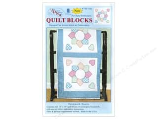 "Jack Dempsey Quilt Blocks 18"" 6pc Patchwork Heart"