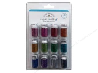 Doodlebug Glitter Sugar Coating Metallic Astd 12pc