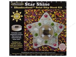Kid Crafts Gardening & Patio: Milestones Kit Stepping Stone Solar Star Shine 12""