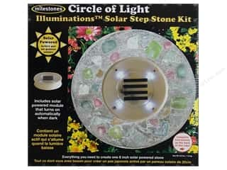 Wood Gardening & Patio: Milestones Kit Stepping Stone Solar Circle of Light 8""