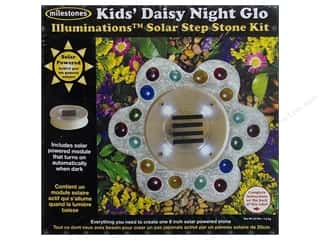 Wood Gardening & Patio: Milestones Kit Stepping Stone Solar Kid's Daisy 8""