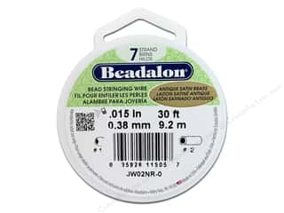 "7"" wire: Beadalon Bead Wire 7 strand Antique Satin Brass 30ft"