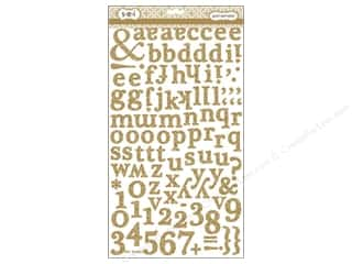 SEI Sticker Glitter Alphabet Gold
