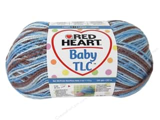 Polyester / Acrylic / Poly Blend Yarns: Red Heart Baby TLC Yarn 4oz Snooky 242yd