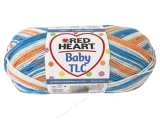 Clearance Red Heart Designer Sport Yarn: Red Heart Baby TLC Yarn #5932 Baseball 242 yd.