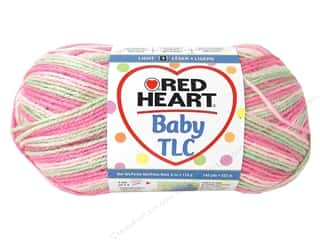 sport yarn: Red Heart Baby TLC Yarn 4oz Girlie Girl 242yd