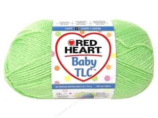 Clearance Red Heart Designer Sport Yarn: Red Heart Baby TLC Yarn 5oz Lime 358yd