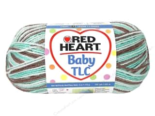 shimmer yarn: Red Heart Baby TLC Yarn #8930 Chocolate Mint 242 yd.