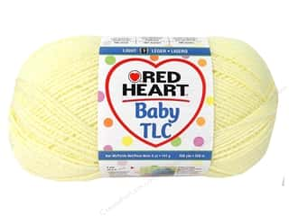 Polyester / Acrylic / Poly Blend Yarns: Red Heart Baby TLC Yarn 5oz Powder Yellow 358yd