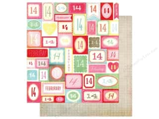 Crate Paper 12 x 12 in. Fourteen February (25 piece)