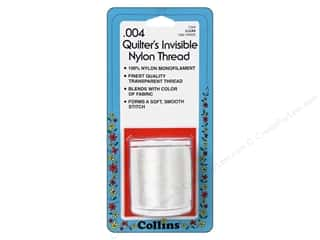 Threads Clear: Quilters Invisible Nylon Thread by Collins .004 Clear 1500 yd.