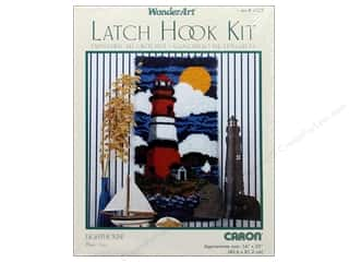 Caron Latch Hook Kit WonderArt 16x32 Lighthouse