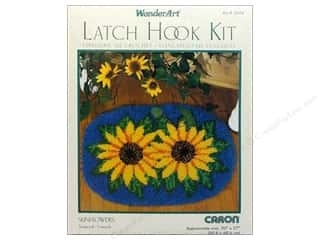 Caron Latch Hook Kit WonderArt 20x27 Sunflowers