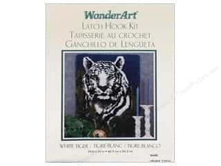 Caron Latch Hook Kit WonderArt 24x34 White Tiger