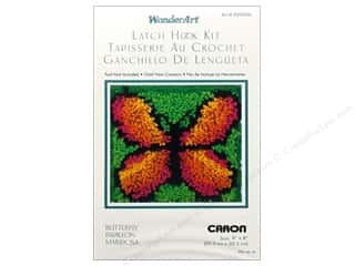 Caron Latch Hook Kit WonderArt 8x8 Butterfly