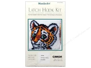 Caron Latch Hook Kit WonderArt 12x12 Tiger Cub