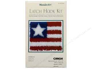 acrylic yarn: Caron Latch Hook Kit WonderArt 12x12 Patriot