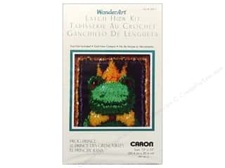 acrylic yarn: Caron Latch Hook Kit WonderArt 12x12 Frog Prince