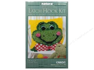 Caron Latch Hook Kit Natura 12&quot;x 12&quot; Froggy