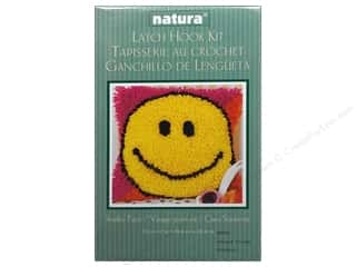 Caron Latch Hook Kit Natura 12&quot;x 12&quot; Smiley Face