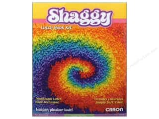 acrylic yarn: Caron Latch Hook Kit Shaggy 12&quot;x 12&quot; Sm Tie Dye