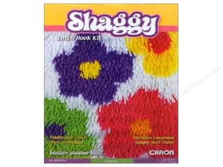 Caron Latch Hook Kit Shaggy 12&quot;x 12&quot; Flowers