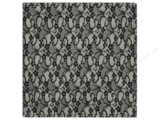 "Laces Black: Making Memories Paper 12""x 12"" Millinery French Lace Black (12 pieces)"