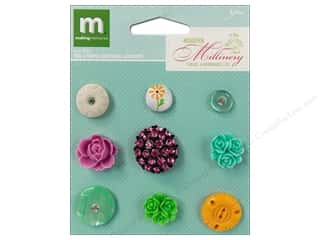 Making Memories Stickers Millinery Cab Teal & Prpl