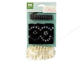 Making Memories Trims Millinery Black &amp; Cream