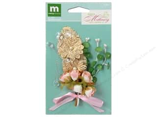 Making Memories Flowers Millinery Newsprnt Bouquet