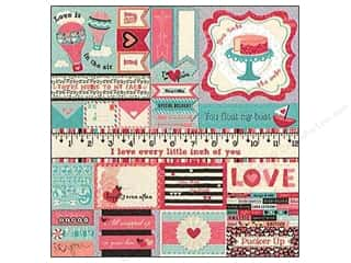 Bo Bunny Sticker Cardstock Combo Love Letters