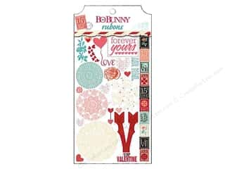 Stamps Burgundy: Bo Bunny Rub-On Love Letters