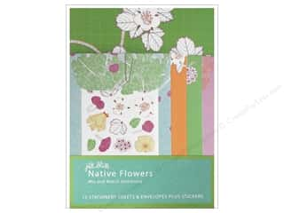 Stickers Chronicle Books: Chronicle Mix & Match Stationery Jill Bliss Native Flowers