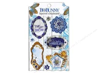 Winter Wonderland: Bo Bunny Sticker Chipboard Layered Powder Mountain