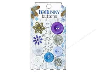 Sew-on Buttons: Bo Bunny Buttons Powder Mountain