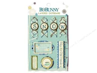 sticker: Bo Bunny Chipboard Stickers Layered Snow Day
