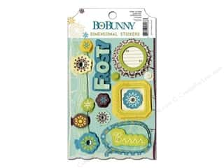 Crate Paper Dimensional Stickers: Bo Bunny Cardstock Stickers Dimensional Snow Day