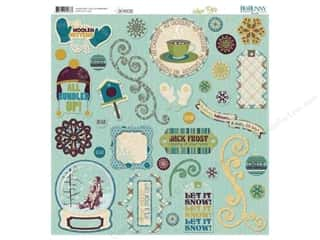 Bo Bunny Sticker Chipboard 12x12 Snow Day