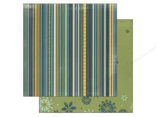 Bo Bunny Paper 12x12 Snow Day Stripe (25 piece)