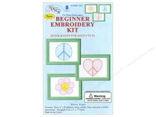Jack Dempsey Beginner Embroidery Kit Peace Signs