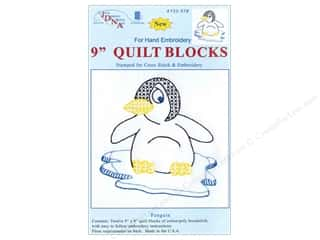 Jack Dempsey 9&quot; Quilt Blocks 12pc Penguin