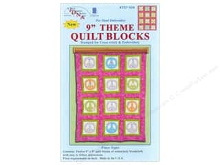 Jack Dempsey 9&quot; Quilt Blocks 12pc Peace Signs