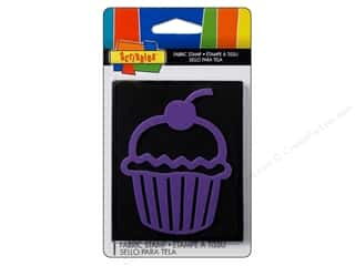 Scribbles Fabric Stamp Small Cupcake
