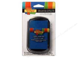 Rubber Stamping Blue: Scribbles Fabric Stamp Pad Bright Blue