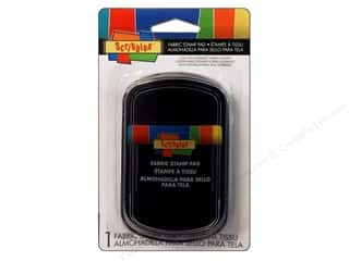 Rubber Stamping Black: Scribbles Fabric Stamp Pad Black