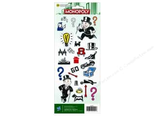 American Crafts Stkr Cdstk Hasbro Monopoly